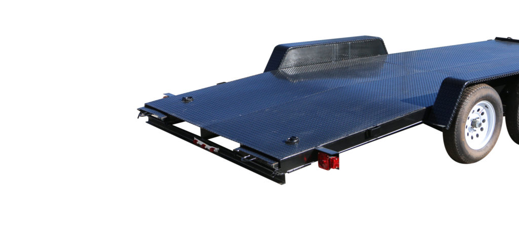 7X15SF1BRK LB. GVWR STEEL FLOOR TRAILERS RAMPS IN